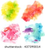 Set Of Vector Watercolor...