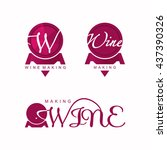 wine making logo vector  wine... | Shutterstock .eps vector #437390326