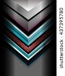 metal geometric background ... | Shutterstock .eps vector #437395780