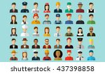 professions vector flat icons. | Shutterstock .eps vector #437398858