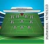 soccer formation    Shutterstock .eps vector #437401213