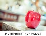 Small photo of 30 Minutes - Red Kitchen Egg Timer In Apple Shape