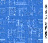 architectural blueprints  set... | Shutterstock .eps vector #437402608
