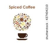 vector illustration   spiced... | Shutterstock .eps vector #437404210