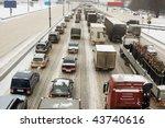 full highway in winter   Shutterstock . vector #43740616