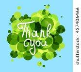 thank you .vector calligraphic... | Shutterstock .eps vector #437406466