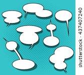 set of comic speech bubbles on...   Shutterstock .eps vector #437407240