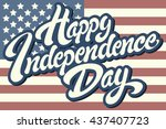 happy independence day hand... | Shutterstock .eps vector #437407723
