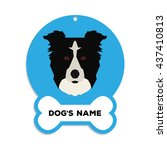 isolated blue dog tag with text ... | Shutterstock .eps vector #437410813