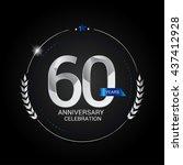 60 years silver anniversary... | Shutterstock .eps vector #437412928