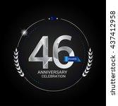 46 years silver anniversary...   Shutterstock .eps vector #437412958