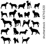 dogs silhouettes. | Shutterstock .eps vector #43741420