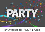party paper background | Shutterstock . vector #437417386