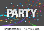 party paper background | Shutterstock .eps vector #437418106