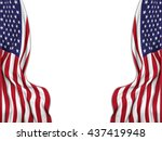 flags of the united states... | Shutterstock . vector #437419948