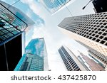abstract buildings background | Shutterstock . vector #437425870