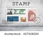 Small photo of Airmail Mail Postcard Letter Stamp Concept