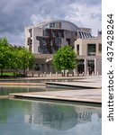 the scottish parliament... | Shutterstock . vector #437428264