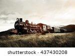 Steam Train In A Open...