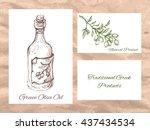 vector linear illustration of... | Shutterstock .eps vector #437434534