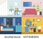 four rooms vector illustration | Shutterstock .eps vector #437448304