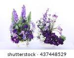 two assorted artificial flower... | Shutterstock . vector #437448529