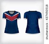 t shirt design kits jersey... | Shutterstock .eps vector #437450518