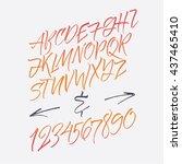 alphabet letters  lowercase ... | Shutterstock .eps vector #437465410