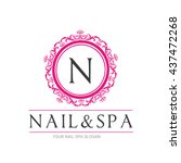 nail beauty spa logo  nail... | Shutterstock .eps vector #437472268