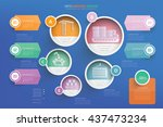 logistic shipping info graphic... | Shutterstock .eps vector #437473234