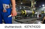 worker with instruments | Shutterstock . vector #437474320