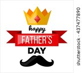 father's day poster... | Shutterstock .eps vector #437477890