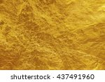 gold foil texture background | Shutterstock . vector #437491960