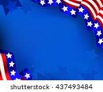 us patriotic background | Shutterstock .eps vector #437493484
