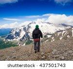 beautiful amazing day summer... | Shutterstock . vector #437501743