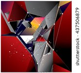 abstract modern triangles... | Shutterstock .eps vector #437506879