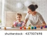 happy family. mother and... | Shutterstock . vector #437507698