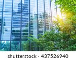 modern office building with... | Shutterstock . vector #437526940