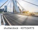 modern buildings with empty...   Shutterstock . vector #437526973