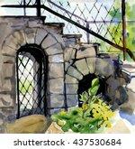 city   fragments of... | Shutterstock . vector #437530684