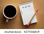 to do list conceptual | Shutterstock . vector #437536819