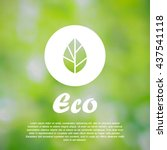 ecological vector illustration. ... | Shutterstock .eps vector #437541118