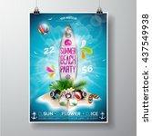 Vector Summer Beach Party Flye...