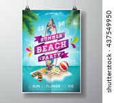 vector summer beach party flyer ...