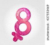 8 march  international women's... | Shutterstock .eps vector #437553469