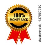 gold label 100  money back.... | Shutterstock .eps vector #437557780