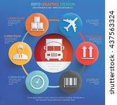 logistic cargo info graphic... | Shutterstock .eps vector #437563324