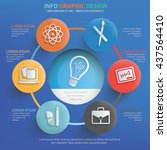 education info graphic design... | Shutterstock .eps vector #437564410