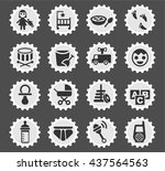 baby web icons for user... | Shutterstock .eps vector #437564563