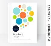 white cover brochure. modern... | Shutterstock .eps vector #437567833